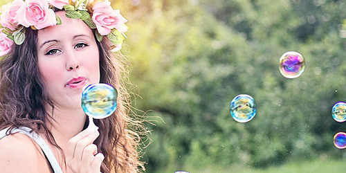 bulles dans les airs