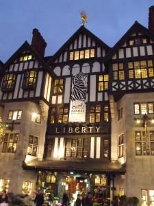 magasin Liberty London sur regent street à londres