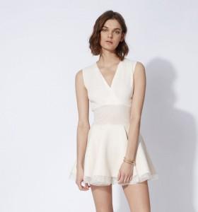 robe blanche Maje décolleté