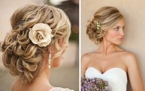 chignon-mariage-fleur coiffure mariage